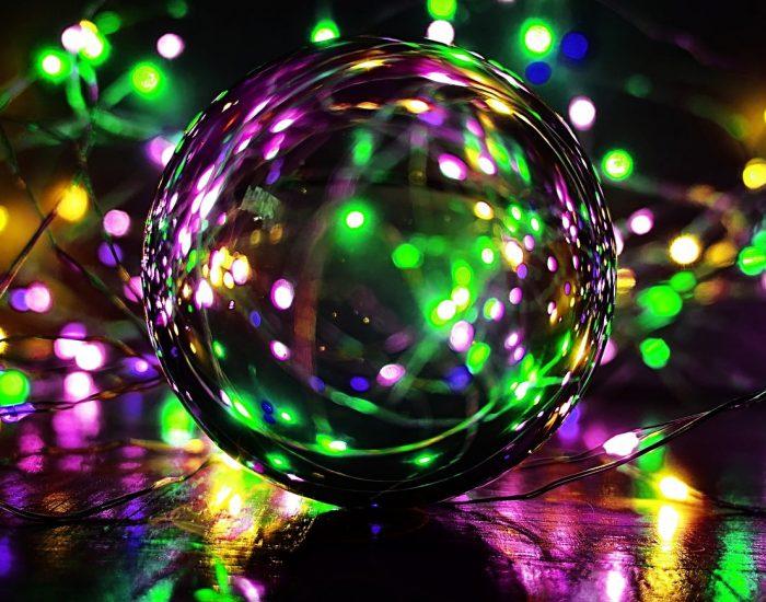 Glaskugel, Lichter